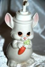 Andre Richard Design Soap Lotion Pump Dispenser Bunny Rabbit with Carrot