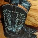 Justin  Brown Dark  Brown  stitched Cowboy Boots  10D mens