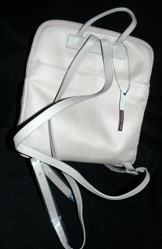 NEW Never used Etienne Aigner backpack purse shoulder back , cream , ecru