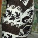 Dragon Cowichan Hand Knit Wool Cardigan Sweater   Vintage