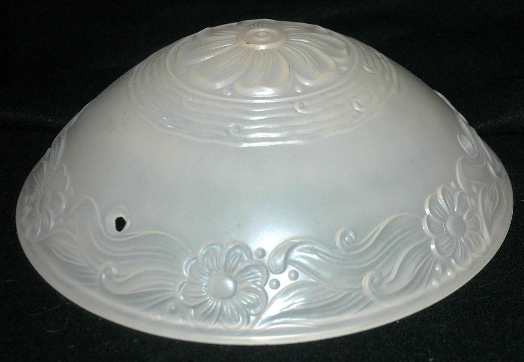 Old Frosted Custard Glass Ceiling Light  Shade Fixture