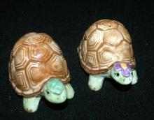 Mary Ann Baker Otagiri Turtle Girl & Boy Salt & Pepper Shakers Made in Japan