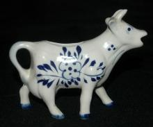 Hand Painted Delfts Blue Cow Creamer