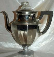 Antique Coffee  STove Top Pedestal Percolator Landers, Frary & Clark Percolator Universal  #789