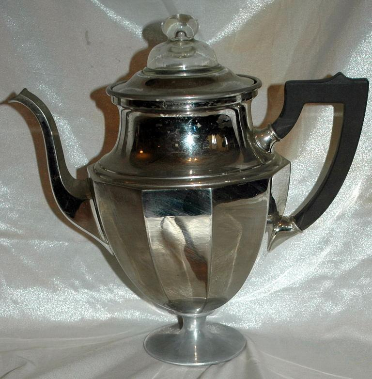 Antique Coffee  STove Top Pedestal Percolator Landers, Frary & Clark Percolator Universal  #789