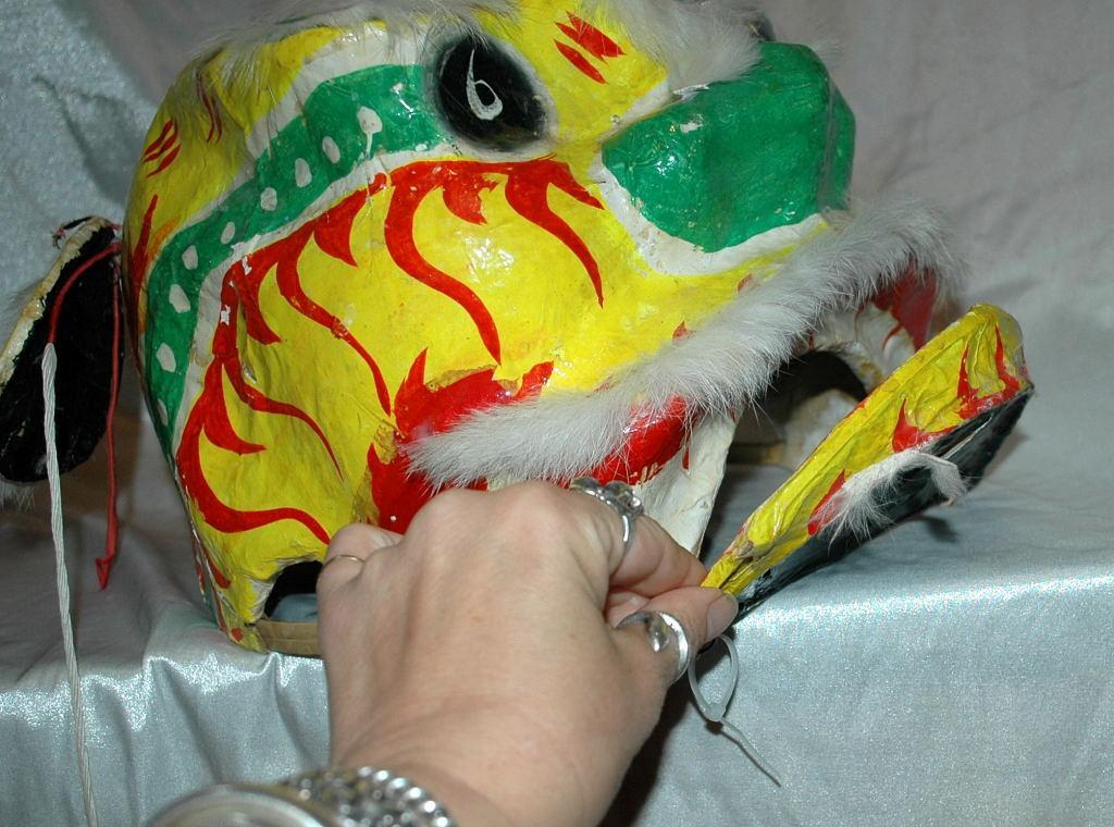 Chinese Dragon Head Mask of Papier Mache