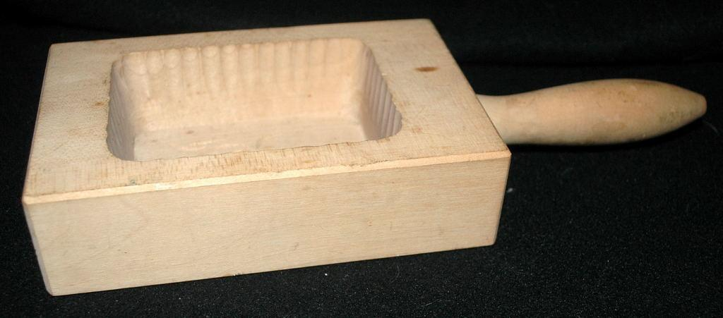Older Wood Butter Mold,, hand carved