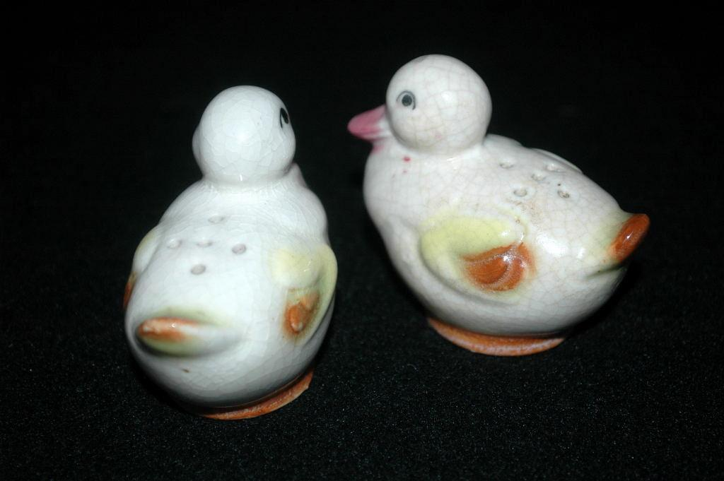 Duck Salt and Pepper Shakers Vintage Japan
