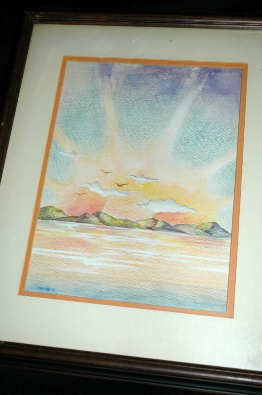 Sunset Watercolor Painting Signed Shively ' 73  ( George Shively)