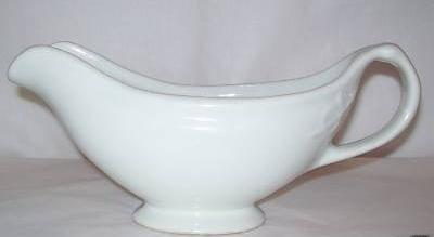 Vintage  Large U.S.Q.M.C. White Porcelain Footed Gravy Boat