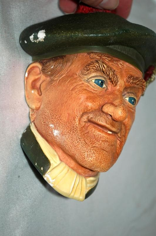 BOSSONS Chalk ware Character Head from  ENGLAND  JOCK