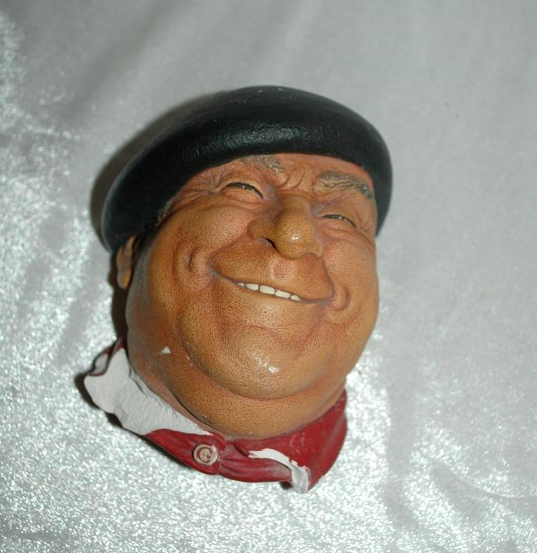 Peirre BOSSONS Chalk ware Character Head from  ENGLAND