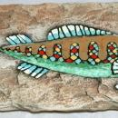 Hagen Renaker Pottery Mid Century Fish Wall Plaque
