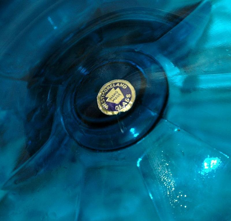 Westmoreland Blue COLONIAL 13 1/2 Inch High VASE