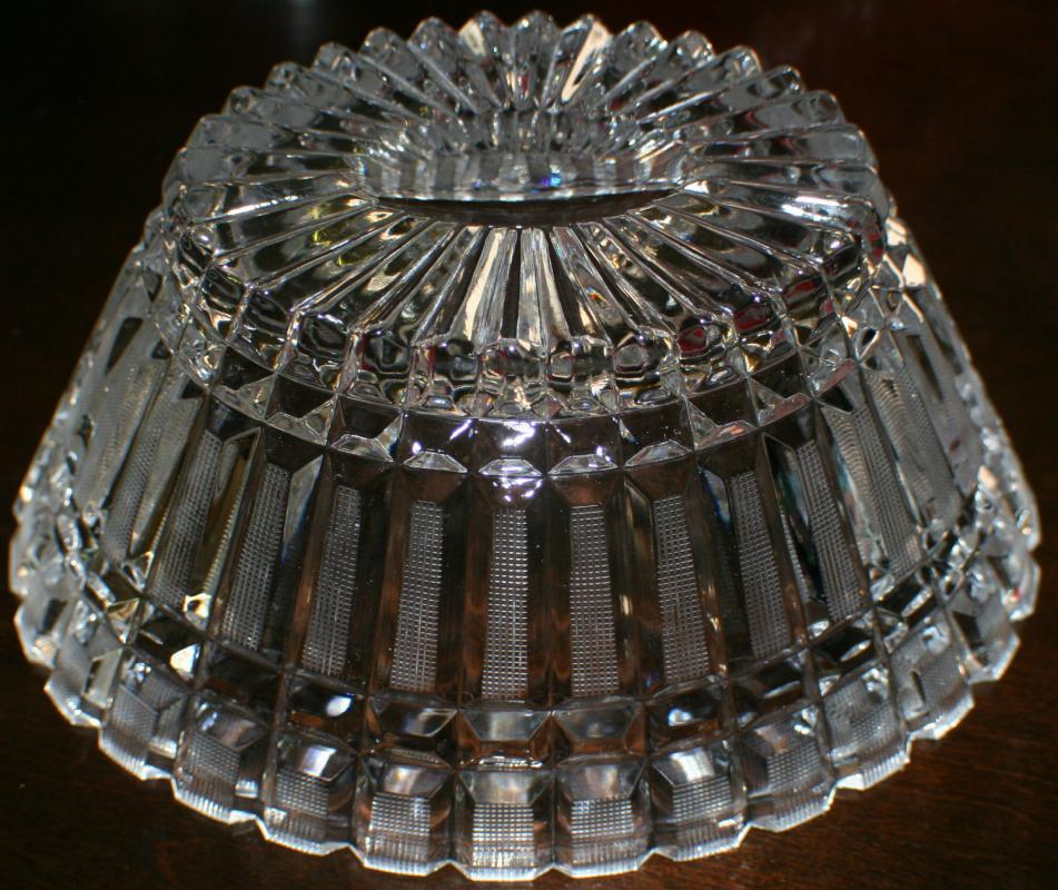 USSR Large, over 24% Lead Crystal Oval Bowl