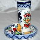MEXICAN TALAVERA TEQUILA & SALT  SHOT SET  lead free