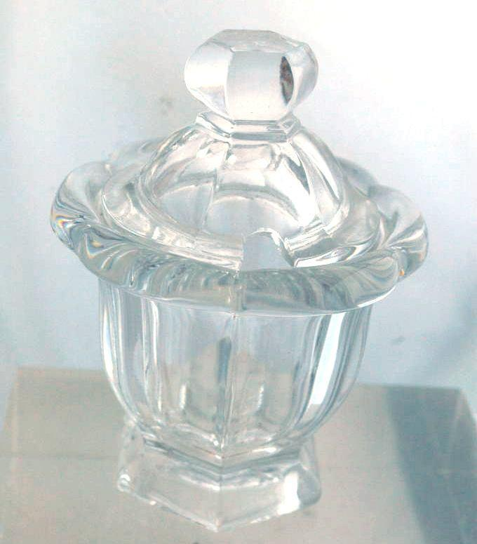 BACCARAT CRYSTAL COVERED MUSTARD JAR