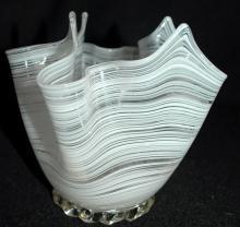 Murano Glass Handkerchief Vase