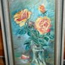 Original Painting Flowers in Vase Oil Painting signed S. Sewell '71