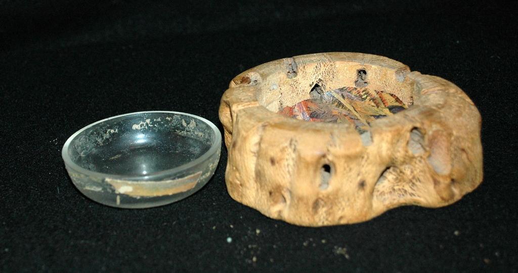 Vintage cholla cactus wood trinket dish souvenir gift of the Grand Canyon Arizona