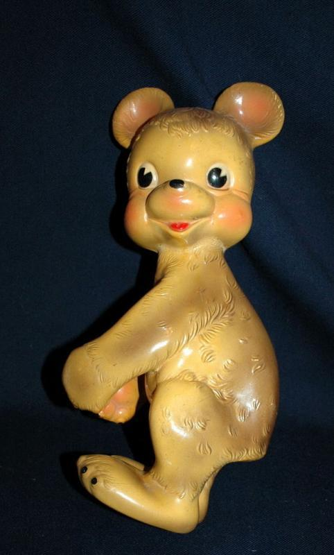 Vintage Squeaky Toy Hugger the Bear Rempel Manufacturing Akron Ohio