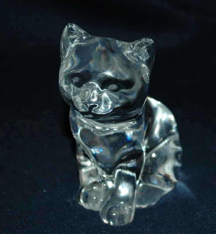 Princess House Pets Crystal Katrina Kitten Cat Figurine Germany