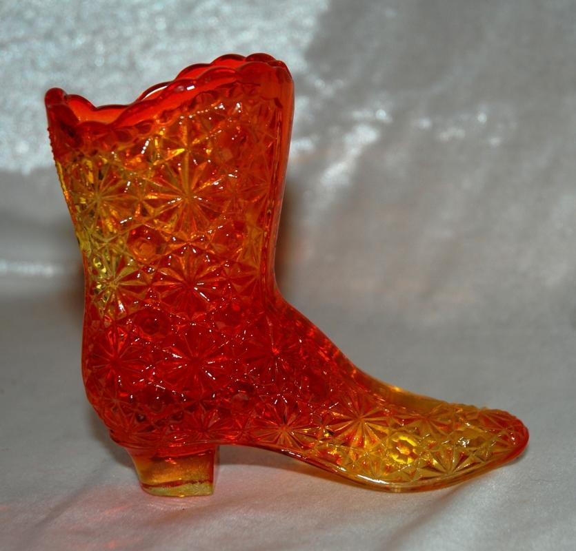Amberina Button & Daisy High Top Boot Fenton