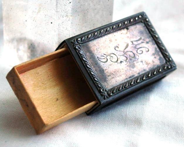 Antique Sterling MatchBoX   Safe, Holder, Vesta with Box and Striker