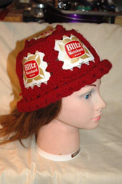 Blitz Weinhard  Crochet Beer Can Hat