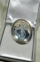 Sterling silver Christmas  medallion ornament