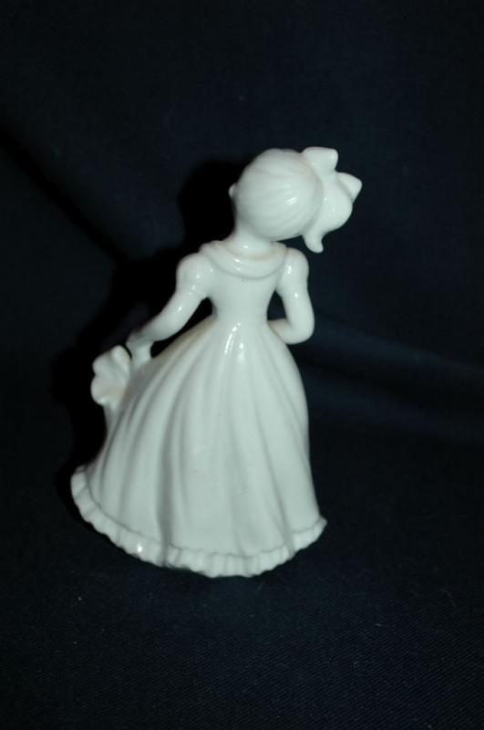 Lefton By Marika White Porcelain Girl with Parasol