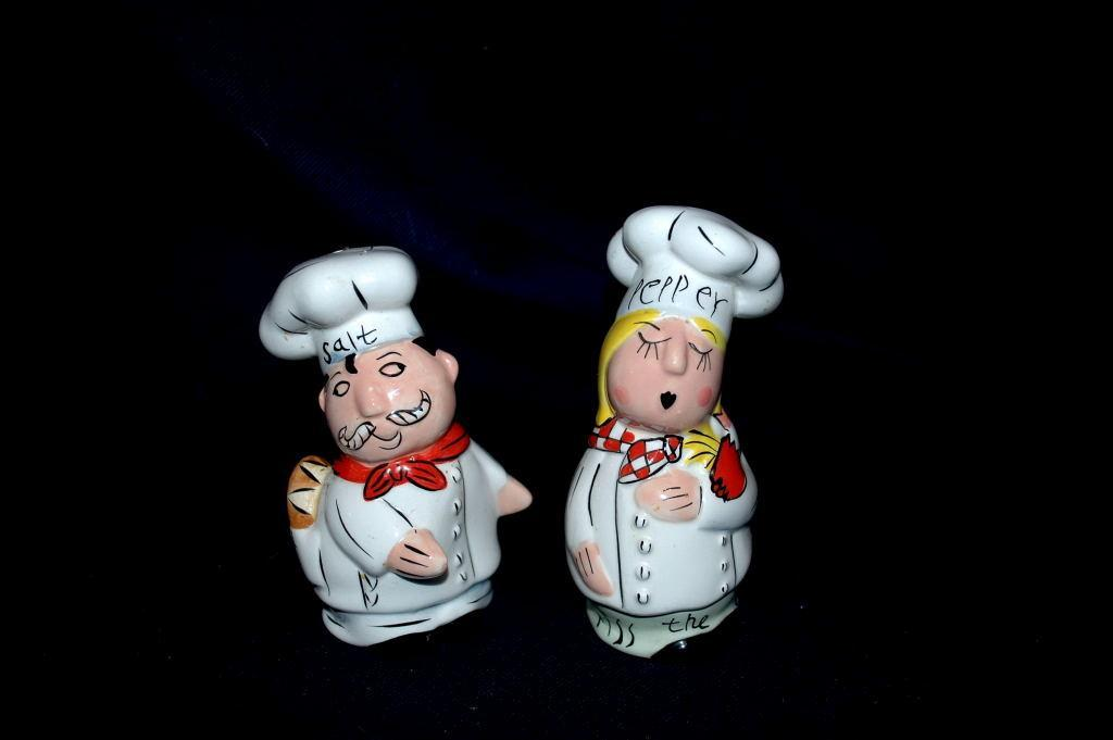 Hug the Chef &  Kiss the Cook Salt & Pepper Shakers