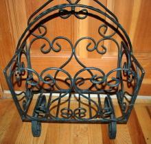 Wrought Iron Magazine, Newspaper Stand, Rack , heavy duty with large capacity