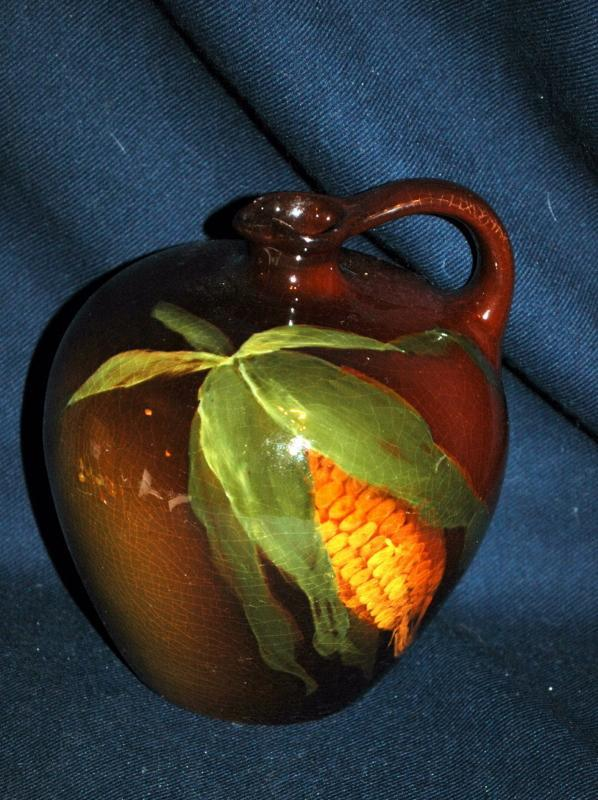 Weller Louwelsa Aurelian,  Jug Pitcher with Corn Stack