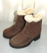 Girl's UGG Shearling zip up  Ankle Booties sz 3 GIRLS YOUTH
