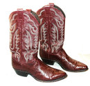 Justin  Maroon Fancy leather  Cowboy boots 9D    ** PRICE REDUCED**!!