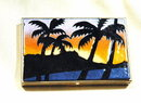 Hand Crafted Limoges Limited Palm Tree Sunset Box