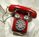Vintage metal Toy Phone Speed Phone by The Gongbell MFG. Co.