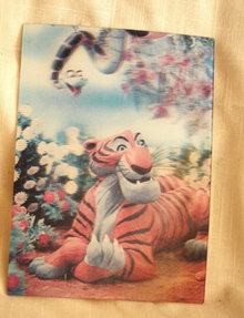 3-D  Jungle Book Post Card