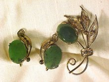 Sorrento Vermeil Sterling Silver & Jade Set