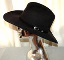 Beaver Hat Genuine Fur Felt Black Cowboy Hat