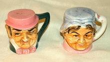 Toby Mug Salt and Pepper Shakers * VINTAGE*
