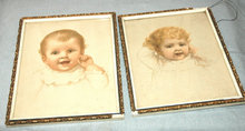Two Baby  Pictures in pastels