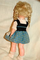 1962 Jolly Toy Inc. Scandinavian Girl Doll   Orig clothes