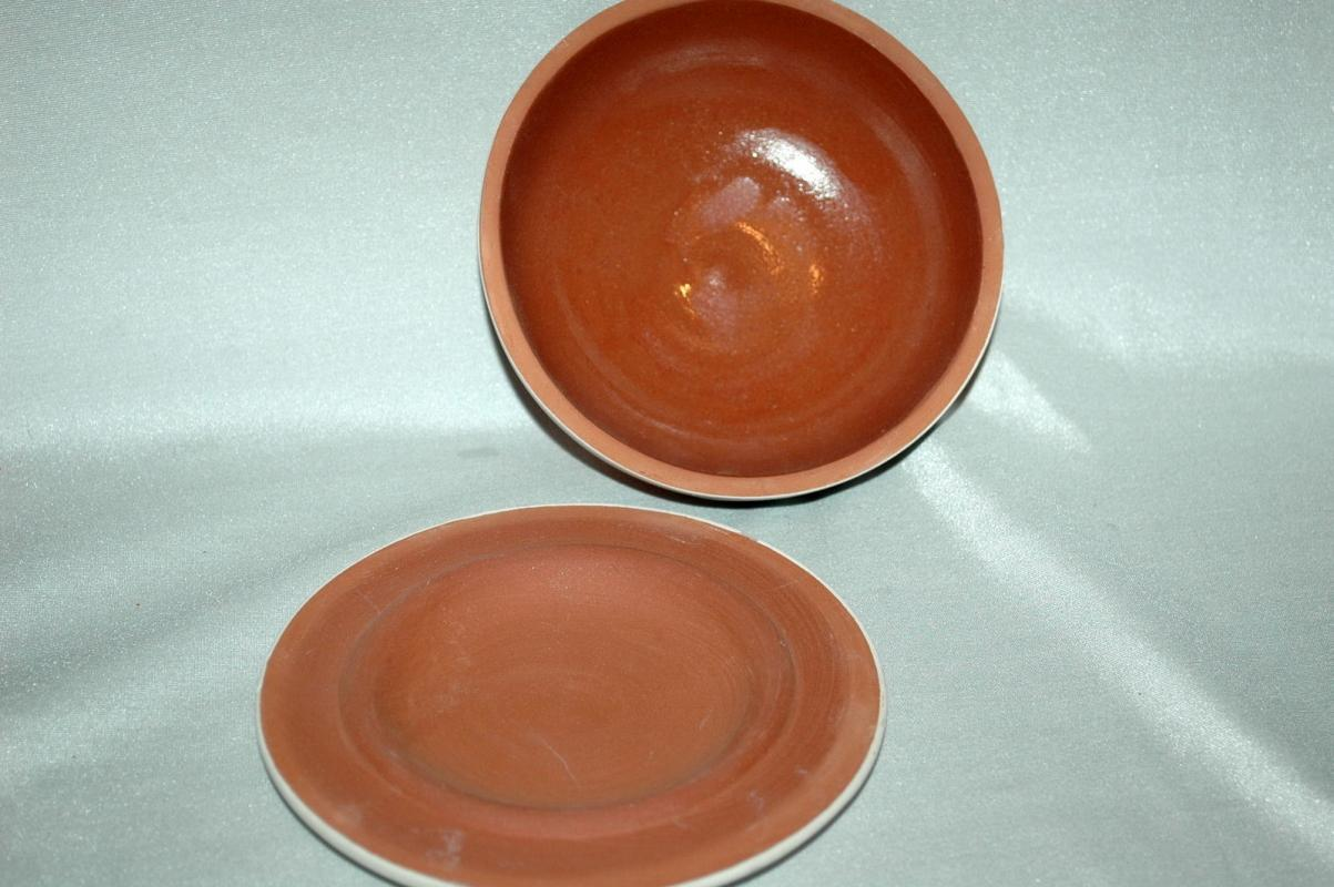 LAKOTA SIOUX INDIAN POTTERY BOWL & LID  HAND CRAFTED BY HIGH ELK