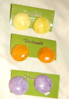 3 pairs of Rembrandt Spring Summer Fashion Earrings