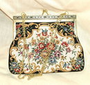 Lovely Floral Tapestry Purse