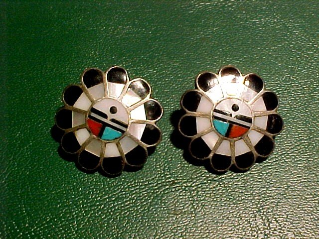 Fred Harvey Era hand Crafted Earrings