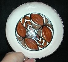 Vintage Hawaii Kapa Designs 1980 Pottery Salad Bowl