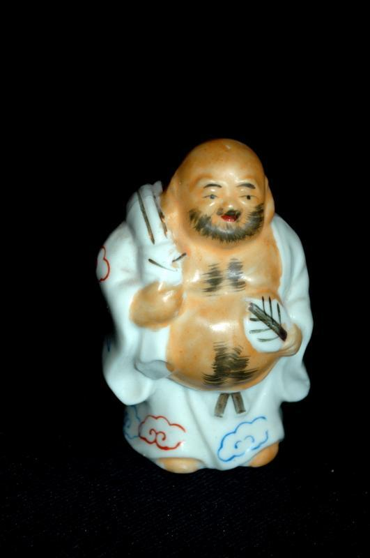 Small Ceramic Porcelain  Fat Buddha Figurine